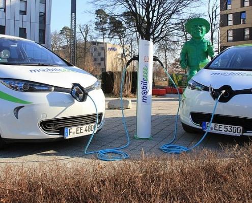 Bild vom e-car-sharing mit Renault Zoe
