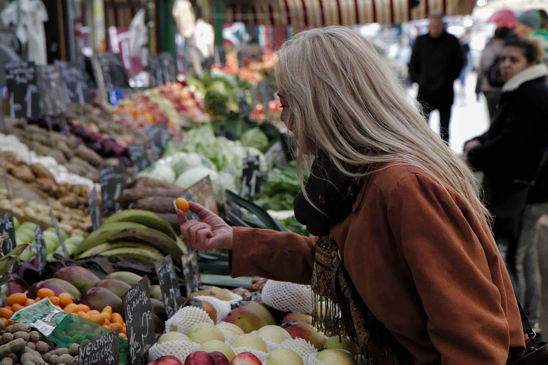 sonja erler auf dem markt